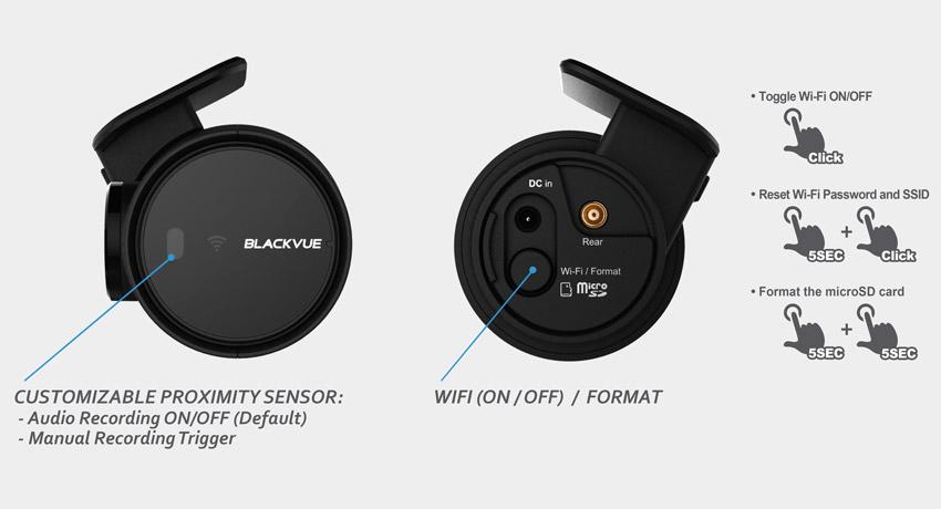 دوربین خودرو شرکت یکتانگر مرجع تخصصیblackvue-dash-cam-dr750s-2ch-button-proximity-sensor