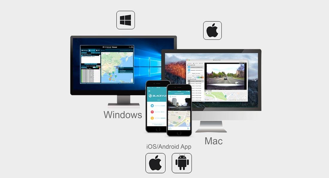 دوربین خودرو یکتانگر نماینده رسمیblackvue-app-viewer-cloud-android-ios-mac-windows