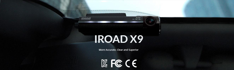 دوربین خودرو IROAD x9-دوربین هوشمند خودرو -جعبه سیاه خودرو-wifi-وای فای