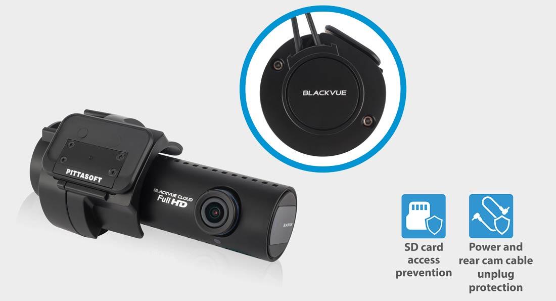 دوربین خودرو blackvue FHD -دوربین مداربسته خودروblackvue-tamper-proof-case-dash-cam-sd-card-access-prevention