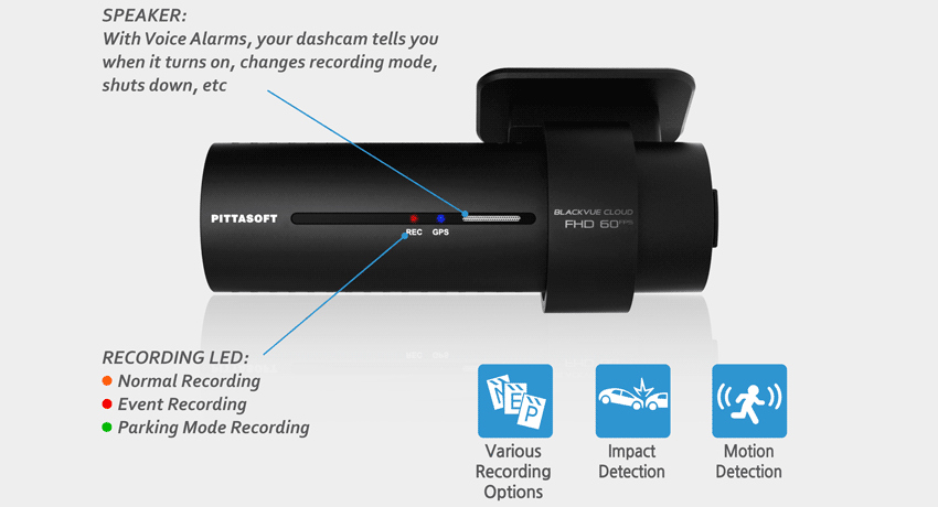 دوربین خودرو blackvue FHD -دوربین هوشمند آنلاینblackvue-dash-cam-dr750s-motion-impact-detection-g-sensor
