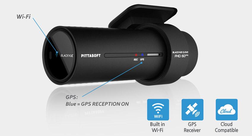 دوربین خودرو blackvue FHD -دوربین هوشمند wifi blackvue-dash-cam-dr750s-wi-fi-cloud-gps