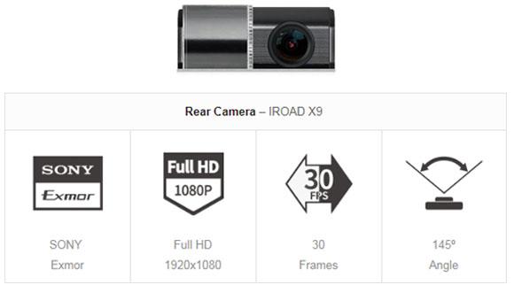 مشخصات فنی دوربین خودرو IROAD X9 مرجع تخصصی و نماینده رسمی ایران یکتانگر
