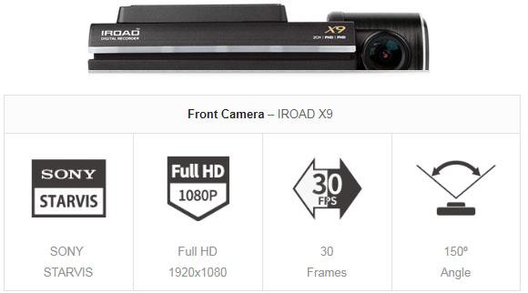 مشخصات فنی دوربین خودرو IROAD X9 مرجع تخصصی و نماینده رسمی ایران