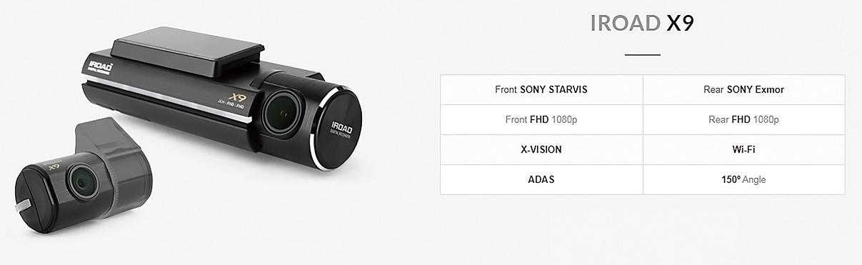 مشخصات فنی دوربین خودرو IROAD X9 یکتانگر