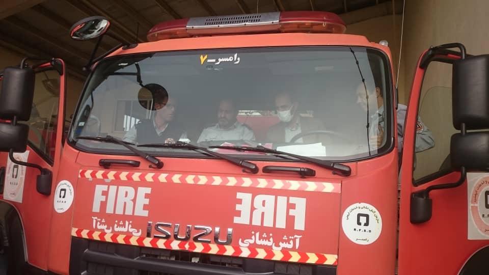 آتش نشانی رامسر دوربین خودرو