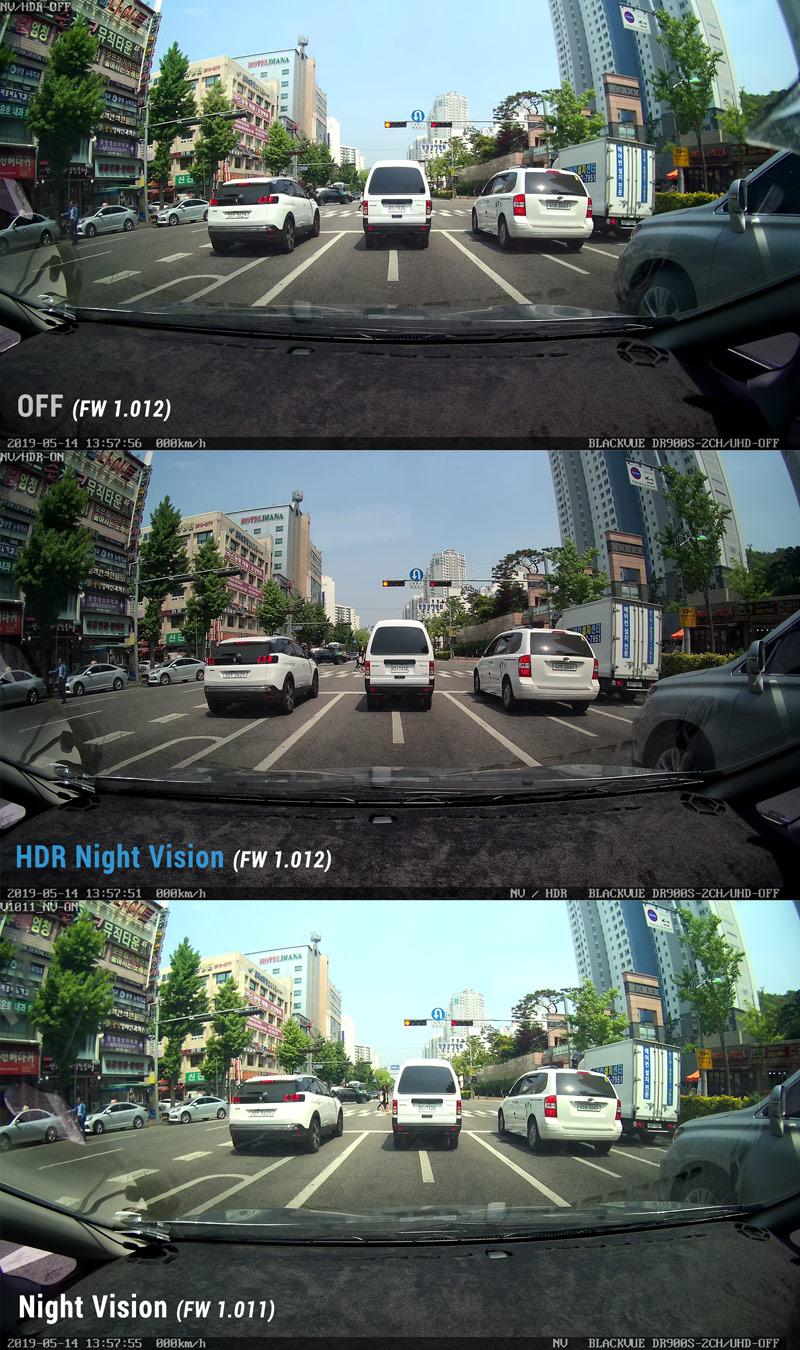 دوربین خودرو با قابلیت HDR ( افزایش محدوده دینامیکی تصویر )blackvue-hdr-comparison-day-2