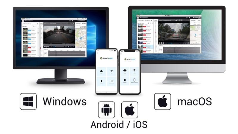 دوربین خودرو بلک ویو و پشتیبانیی از سیستم عامل اندروید آیفون ویندوز مک با نرم افزار حرفهای