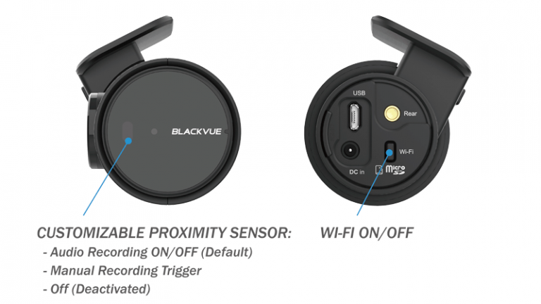 دوربین خودرو هوشمند بلک ویو با قابلیت لمسی برای اعمال تغییرات و کنترل صدا و تنظیمات