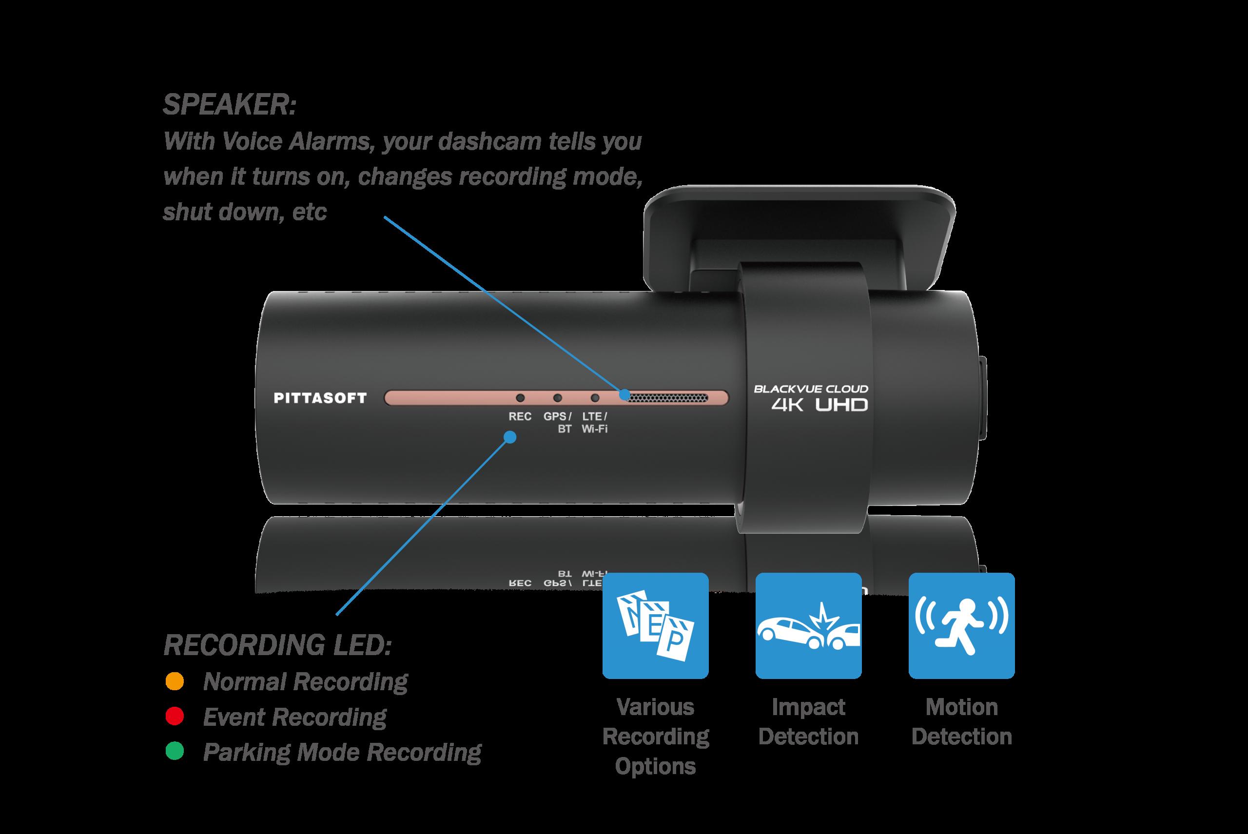 دوربین خودرو BLACKVUE با قابلیت تشخیص حرکت و ضربه