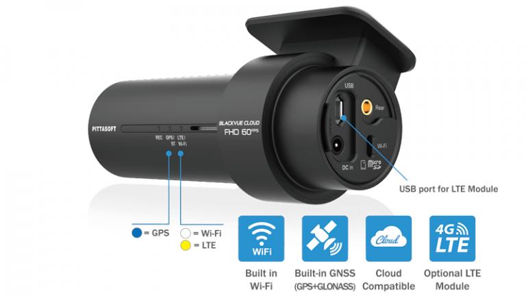 دوربین خودرو BLACKVUE DR750X مجهز به وای فای wifi و جی پی اس gps