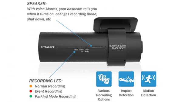 دوربین خودرو بلک ویو با قابلیت تشخیص حرکت و ضربه