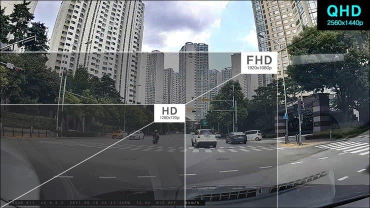 QHD dashcam دوربین ماشین با سایز QHD